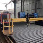 automated cnc plasma cutting machine doble nga nagmaneho sa 4m span 15m riles