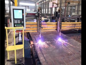Doble Drive Gantry CNC Plasma Cutting Machine H Beam Production Line Hypertherm CNC System