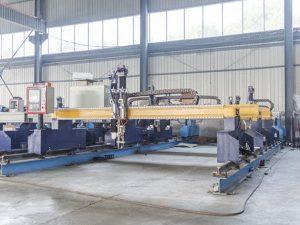 Maalamon nga Gantry type nga cnc metal plate cutting machine awtomatiko nga plasma ug makina sa pagputol sa siga