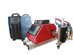 portable cnc plasma, gas, siga, oxgen sheet metal cutting machine nga adunay THC